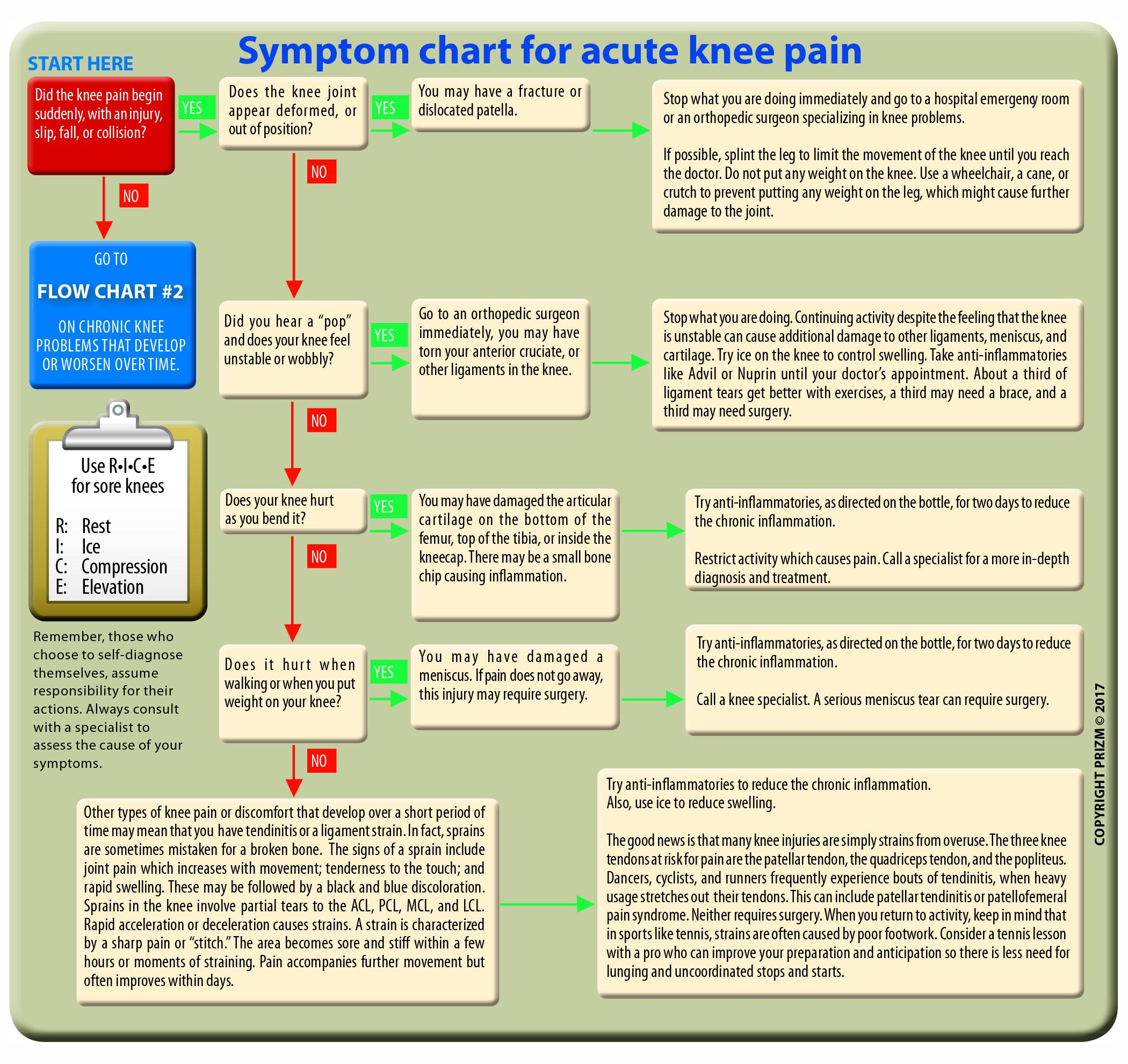 Downloads mini brochure symptoms chart knee pain northwest symptoms chart acute knee pain pooptronica Image collections